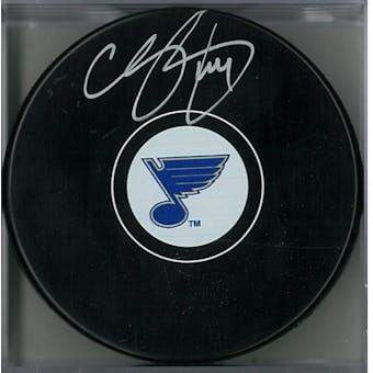 Chris Pronger Autographed St Louis Blues Hockey Puck (AJSW COA)