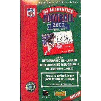 2002 Upper Deck Authentics Football Hobby Box