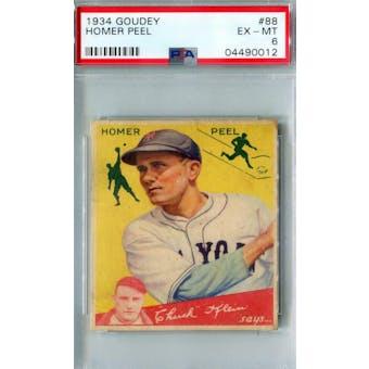 1934 Goudey Baseball #88 Homer Peel PSA 6 (EX-MT) *0012 (Reed Buy)