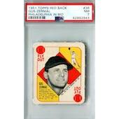 1951 Topps Red Back Baseball #36 Gus Zernial Philadelphia PSA 7 (NM) *2943 (Reed Buy)