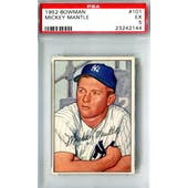 1952 Bowman Baseball #101 Mickey Mantle PSA 5 (EX) *2144 (Reed Buy)