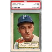 1952 Topps Baseball #326 George Shuba PSA 4 (VG-EX) *9165 (Reed Buy)