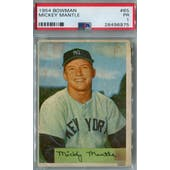 1954 Bowman Baseball #65 Mickey Mantle PSA 1 (Poor) *6975 (Reed Buy)