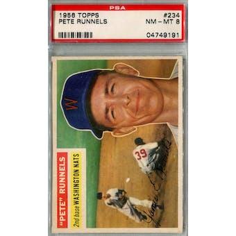 1956 Topps Baseball #234 Pete Runnels PSA 8 (NM-MT) *9191 (Reed Buy)