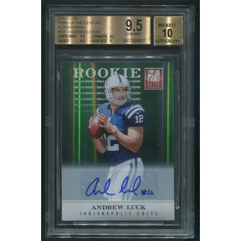 2012 Elite #101 Andrew Luck Turn of the Century Rookie Auto #08/99 BGS 9.5 (GEM MINT)