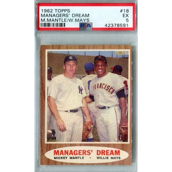 1962 Topps Baseball #18 Managers' Dream PSA 5 (EX) *8591 (Reed Buy)
