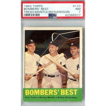 1963 Topps Baseball #173 Bombers' Best PSA 7 (NM) *8977 (Reed Buy)