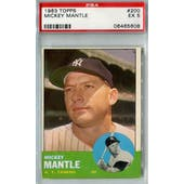 1963 Topps Baseball #200 Mickey Mantle PSA 5 (EX) *5608 (Reed Buy)
