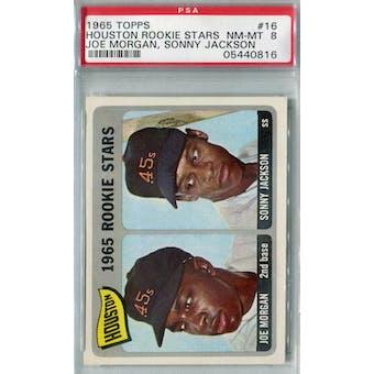 1965 Topps Baseball #16 Joe Morgan RC PSA 8 (NM-MT) *0816 (Reed Buy)