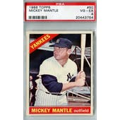 1966 Topps Baseball #50 Mickey Mantle PSA 4 (VG-EX) *3754 (Reed Buy)