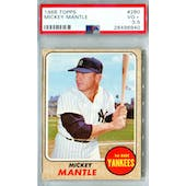 1968 Topps Baseball #280 Mickey Mantle PSA 3.5 (VG+) *6940 (Reed Buy)