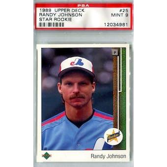 1989 Upper Deck Baseball #25 Randy Johnson RC PSA 9 (Mint) *4981 (Reed Buy)