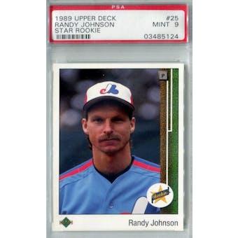 1989 Upper Deck Baseball #25 Randy Johnson RC PSA 9 (Mint) *5124 (Reed Buy)