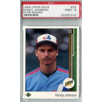 1989 Upper Deck Baseball #25 Randy Johnson RC PSA 9 (Mint) *1310 (Reed Buy)