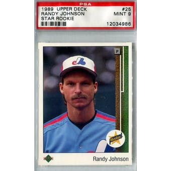 1989 Upper Deck Baseball #25 Randy Johnson RC PSA 9 (Mint) *4986 (Reed Buy)
