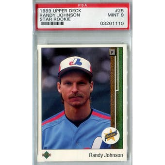1989 Upper Deck Baseball #25 Randy Johnson RC PSA 9 (Mint) *1110 (Reed Buy)
