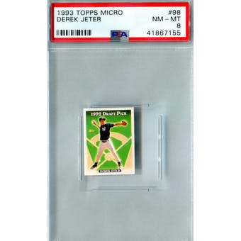 1993 Topps Micro Baseball #98 Derek Jeter RC PSA 8 (NM-MT) *7155 (Reed Buy)