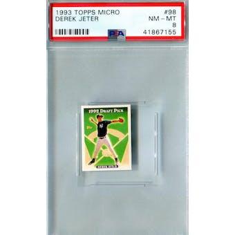 1993 Topps Micro Baseball #98 Derek Jeter RC PSA 8 (NM-MT) *7155 (Reed Buy)