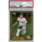 2013 Topps Chrome Update Baseball #MB-47 Christian Yelich Gold Refractor #/250 PSA 9 (Mint) *0502 (Reed Buy)