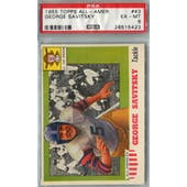 1955 Topps All-American Football #43 George Savitsky PSA 6 (EX-MT) *5423 (Reed Buy)
