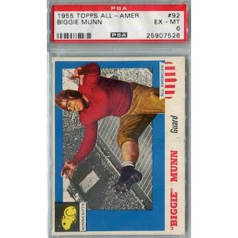 1955 Topps All-American Football #92 Biggie Munn PSA 6 (EX-MT) *7526 (Reed Buy)