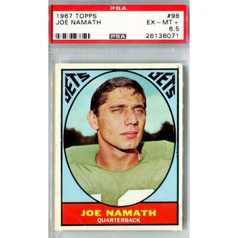 1967 Topps Football #98 Joe Namath PSA 6.5 (EX-MT+) *6071 (Reed Buy)