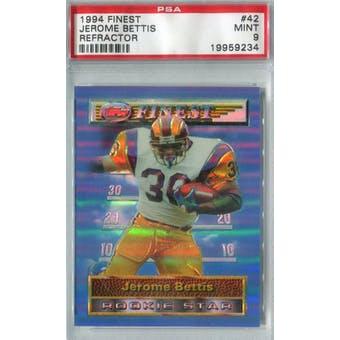 1994 Finest Refractor Football #42 Jerome Bettis PSA 9 (Mint) *9234 (Reed Buy)