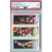 1980/81 Topps Basketball Larry Bird/Julius Erving/Magic Johnson RC PSA 7 (NM) *6330 (Reed Buy)