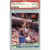 1992/93 Ultra Basketball #328 Shaquille O'Neal RC PSA 10 (Gem Mint) *9223 (Reed Buy)