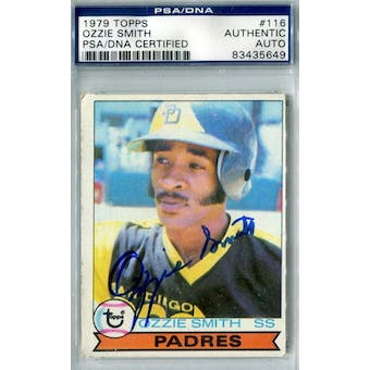 1979 Topps Baseball #116 Ozzie Smith RC PSA Blue Label Auto *5649 (Reed Buy)
