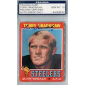 1971 Topps Football #156 Terry Bradshaw RC PSA Blue Label Auto 10 *9552 (Reed Buy)