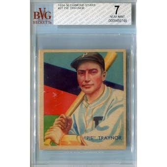 1934-36 Diamond Stars Baseball #27 Pie Traynor BVG 7 (NM) *9748 (Reed Buy)
