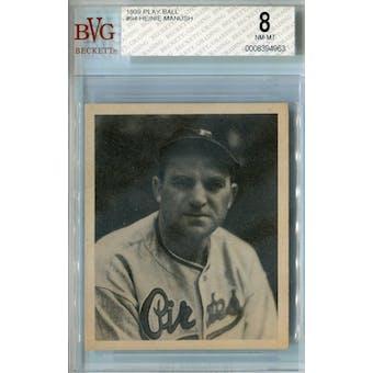 1939 Play Ball Baseball #94 Heinie Manush BVG 8 (NM-MT) *4963 (Reed Buy)