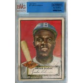1952 Topps Baseball #312 Jackie Robinson BVG AUTH Altered *8345 (Reed Buy)