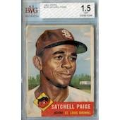 1953 Topps Baseball #220 Satchel Paige BVG 1.5 (Fair) *8388 (Reed Buy)