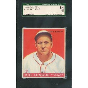 1933 Goudey Baseball #150 Ray Kolp SGC 84 (NM) *0003 (Reed Buy)