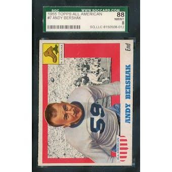 1955 Topps All-American Football #7 Andy Bershak SGC 88 (NM-MT) *8012 (Reed Buy)