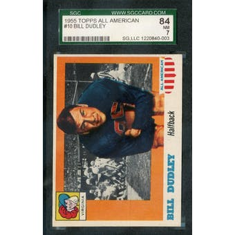 1955 Topps All-American Football #10 Bill Dudley SGC 84 (NM) *0003 (Reed Buy)