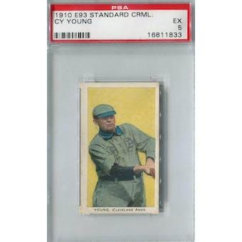 1910 E93 Standard Caramel Baseball Cy Young PSA 5 (EX) *1833 (Reed Buy)