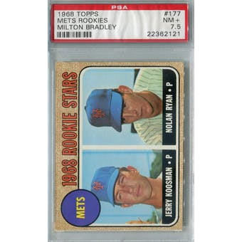1968 Topps Milton Bradley Baseball #177 Nolan Ryan RC PSA 7.5 (NM+) *2121 (Reed Buy)