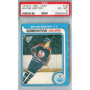 1979/80 O-Pee-Chee Hockey #18 Wayne Gretzky PSA 6 (EX-MT) *5209 (Reed Buy)