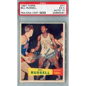 1957/58 Topps Basketball #77 Bill Russell PSA 5 (EX) Auto 10 *5584 (Reed Buy)