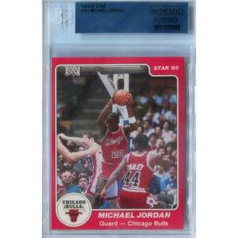 1984/85 Star Basketball #101 Michael Jordan BGS AUTH Altered *3058 (Reed Buy)