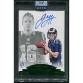 2018 Panini Honors Recollection Collection #3664 Jared Goff 2016 Flawless Emerald Rookie Auto #1/1