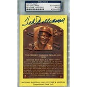 Ted Williams Yellow HOF Plaque PSA Blue Label AUTH Auto *4022 (Reed Buy)