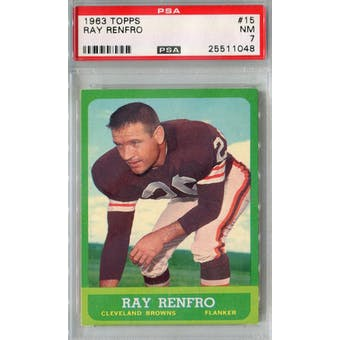 1963 Topps Football #15 Ray Renfro PSA 7 (NM) *1048 (Reed Buy)