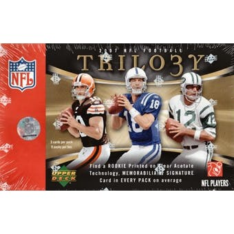 2007 Upper Deck Trilogy Football Hobby Box
