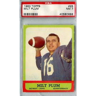 1963 Topps Football #25 Milt Plum PSA 7 (NM) *0688 (Reed Buy)