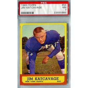 1963 Topps Football #55 Jim Katcavage PSA 7 (NM) *5985 (Reed Buy)