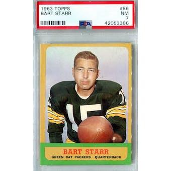 1963 Topps Football #86 Bart Starr PSA 7 (NM) *3386 (Reed Buy)